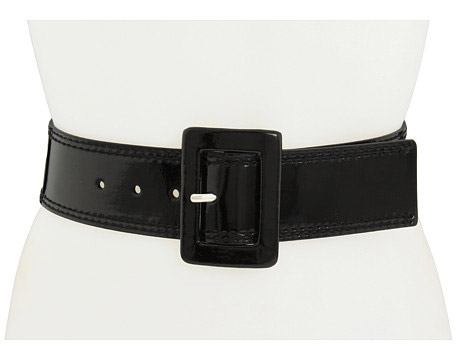 Calivin Klein Patent covered Buckle black tie belt- blaque colour-Presidents Ball Dance Inaugural 2017