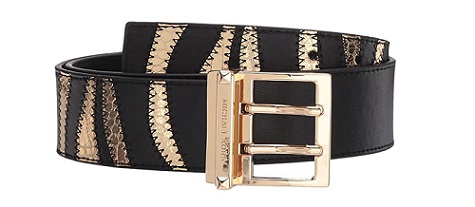 Michael Kors 42 MM Zebra classy blaque Tie belts 2020 BLAQUE COLOUR