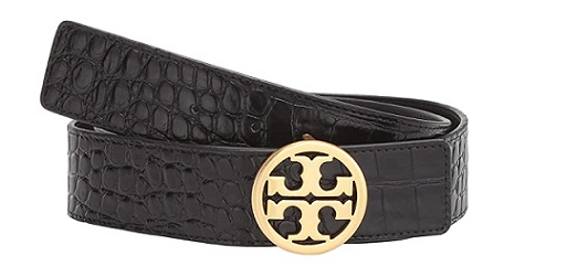 Tory Burch 1.5 Embossed classy blaque Tie belts 2020 BLAQUE COLOUR